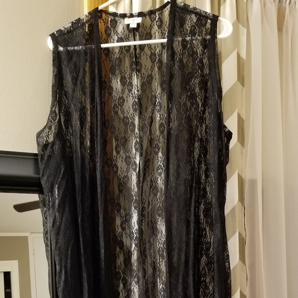 LuLaRoe Tops - Lula Roe black lace Joy